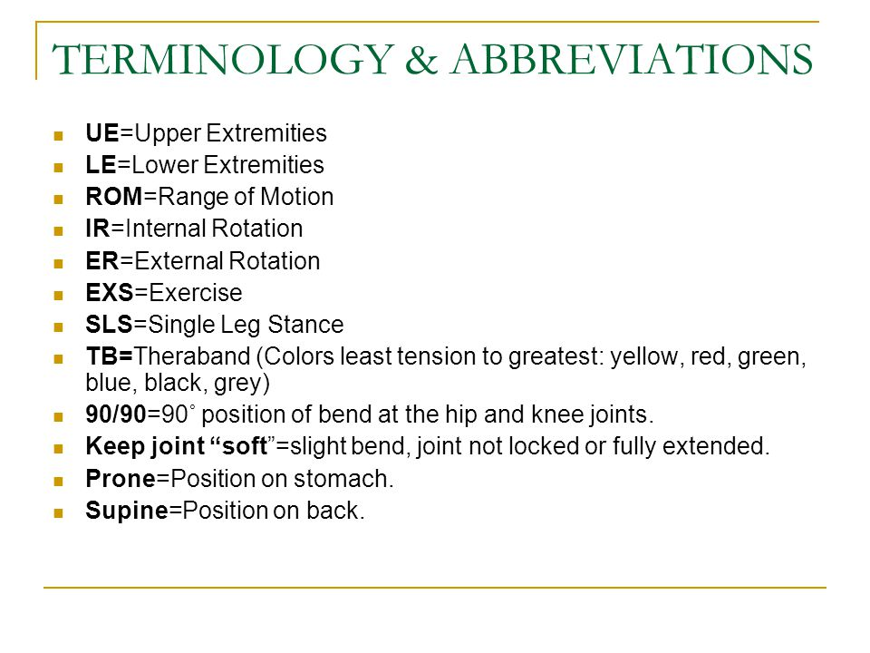 TERMINOLOGY & ABBREVIATIONS RTC=Rotator cuff, group of endurance muscles around the scapular and shoulder joints.