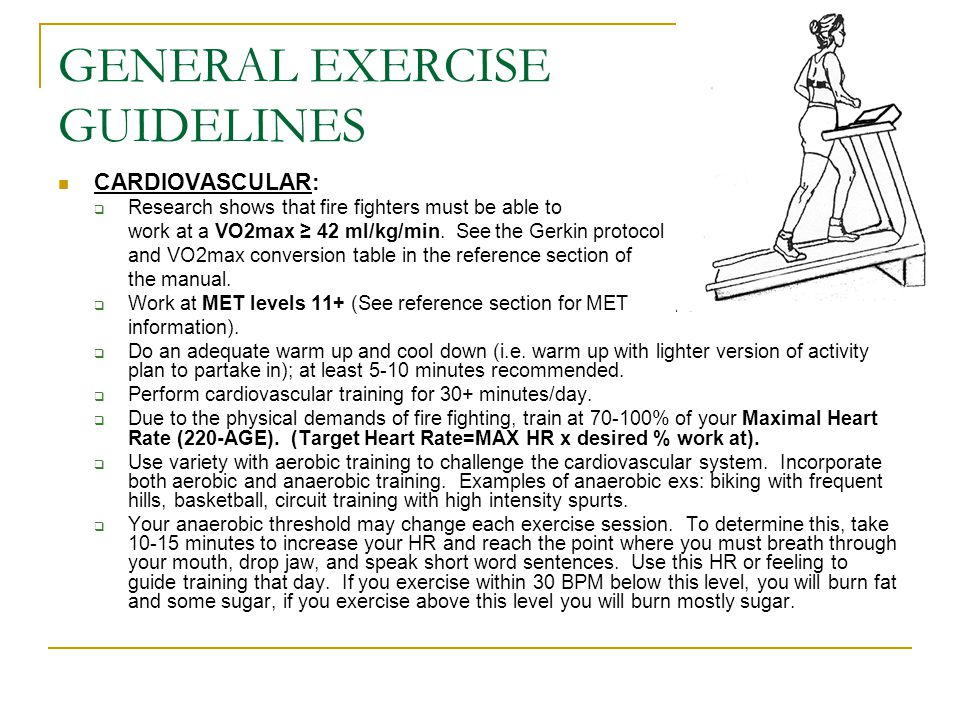 GENERAL EXERCISE GUIDELINES STRENGTH:  Choose at least one exercise for each major muscle group.