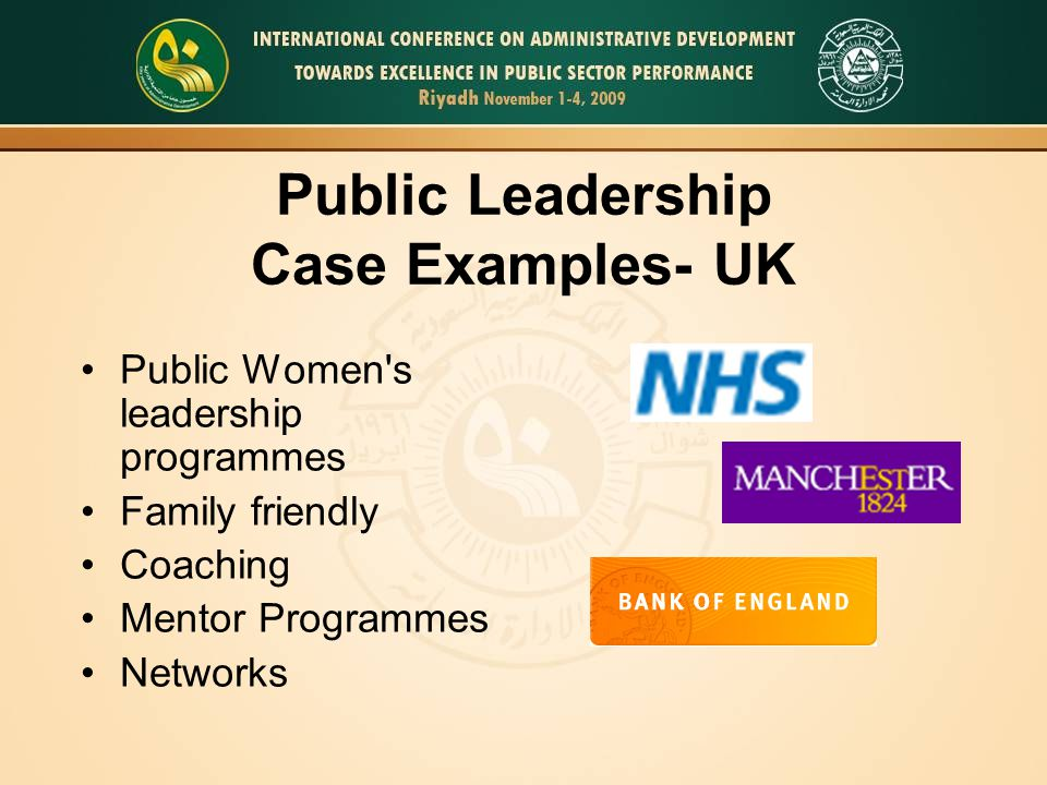 Public Leadership Case Examples- UK Public Women s leadership programmes Family friendly Coaching Mentor Programmes Networks