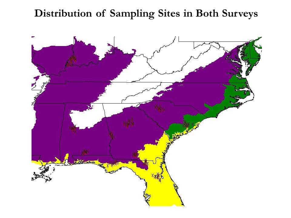 Distribution of Sampling Sites in Both Surveys