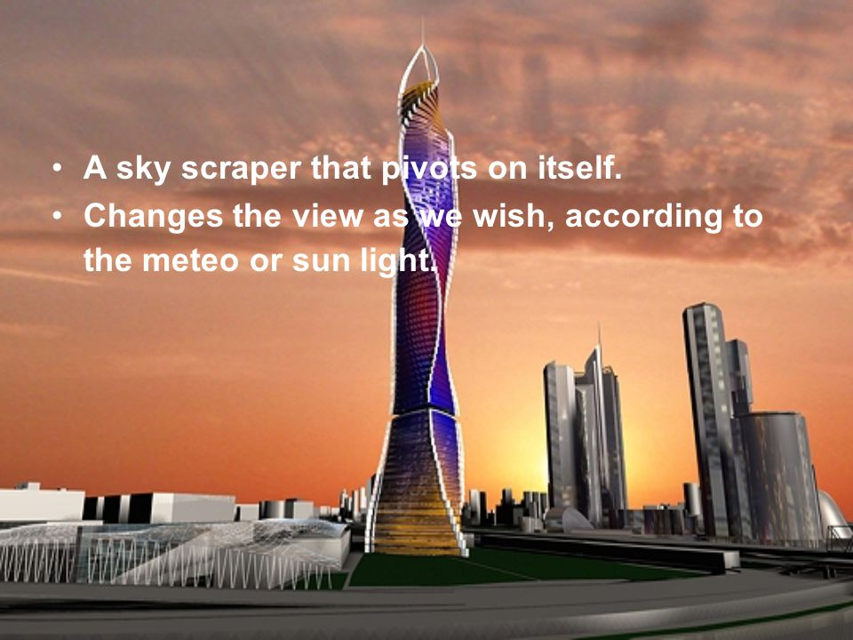 Architect David Fischer conceived a inique method, called »The Fischer method to build his towers.