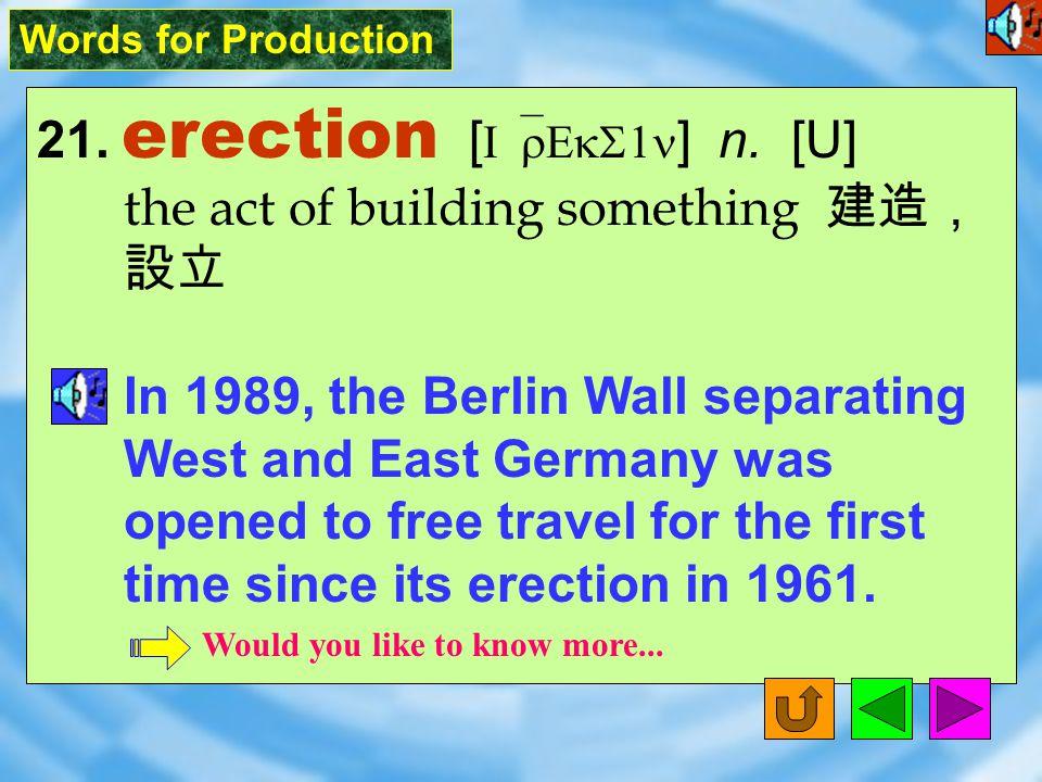 Words for Production 20. prominent [ `prAm1n1nt ] adj.