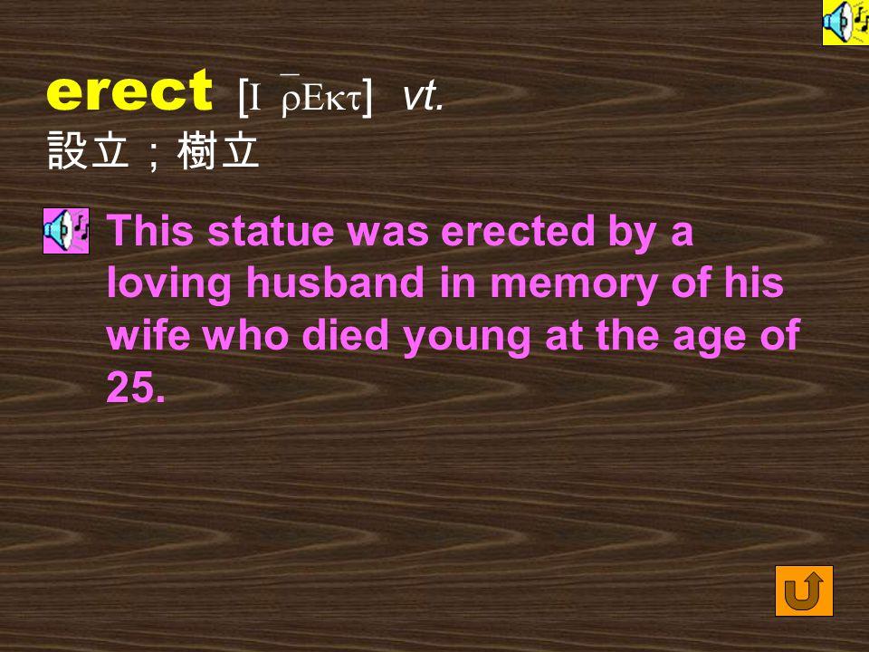 Words for Production 21. erection [ I`rEkS1n ] n.