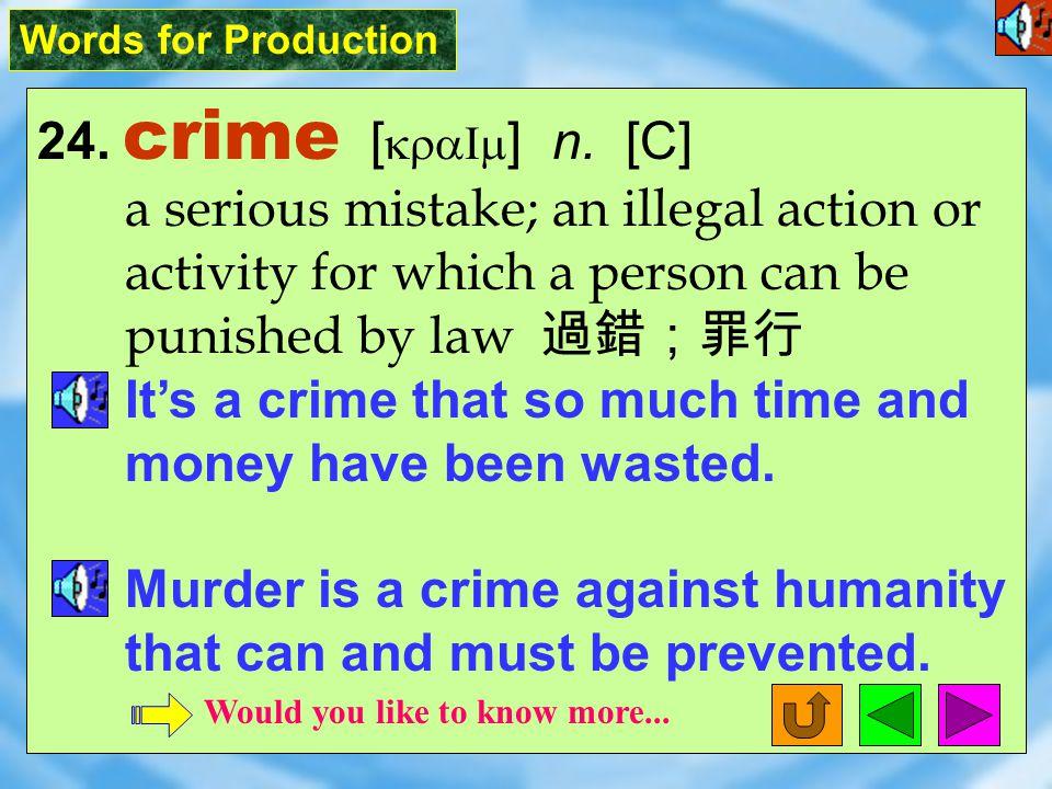 Words for Production 23. condemn [ k1n`dEm ] vt.