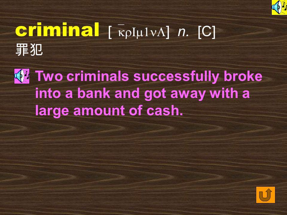 Words for Production 24. crime [ kraIm ] n.