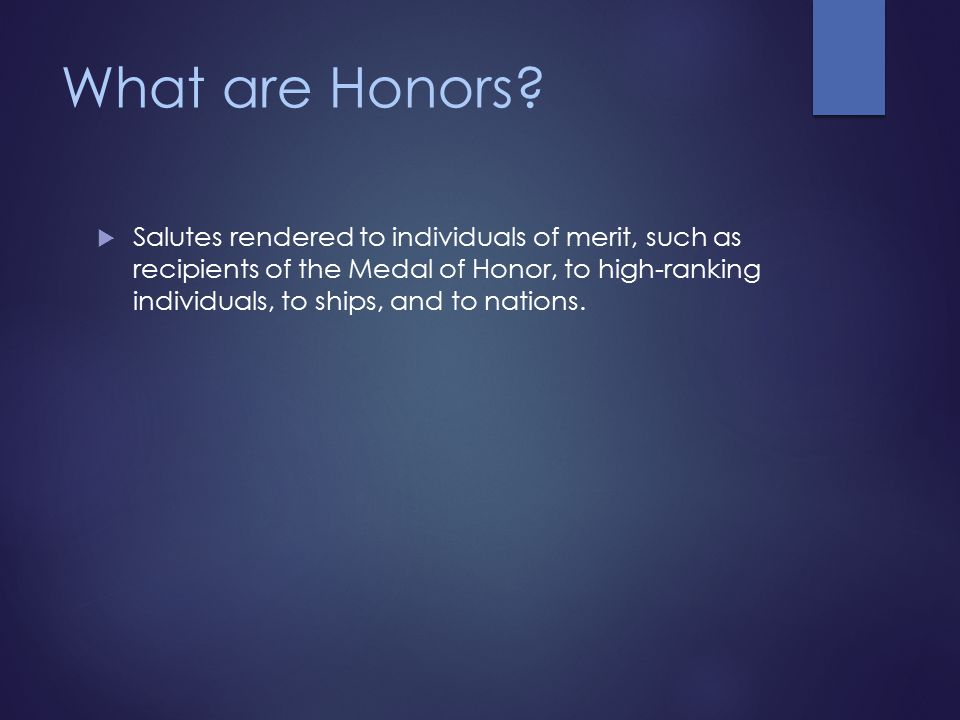What are Honors.