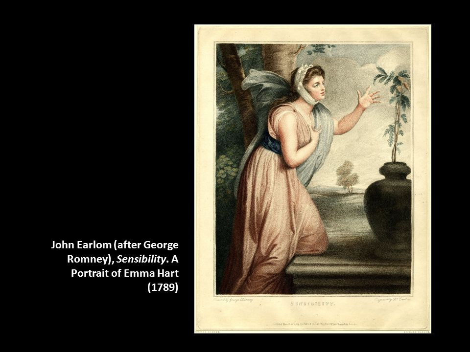 John Earlom (after George Romney), Sensibility. A Portrait of Emma Hart (1789)