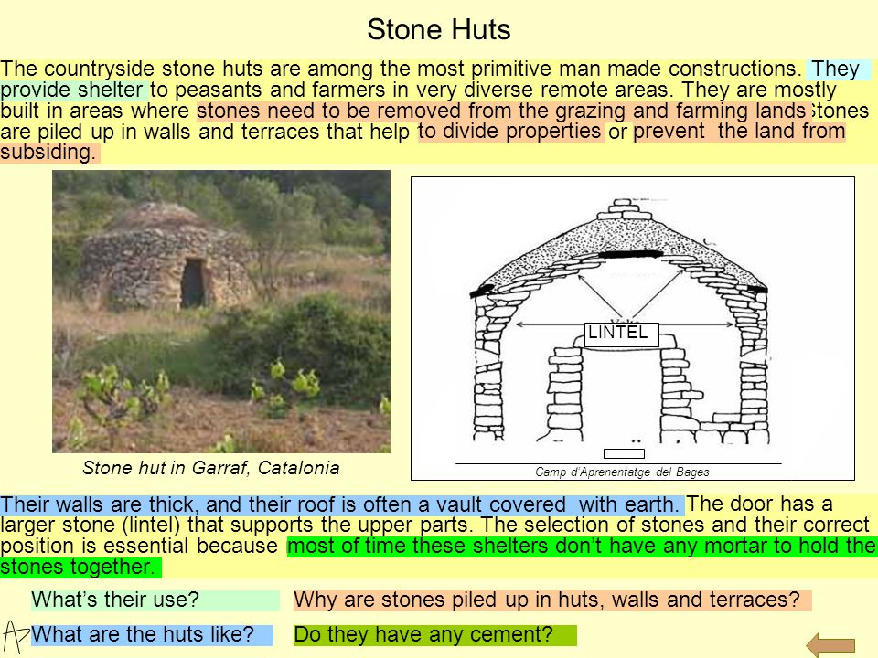 Stone and thatched hut in the Andes Pallozas in the north of Spain date from pre-Roman times.
