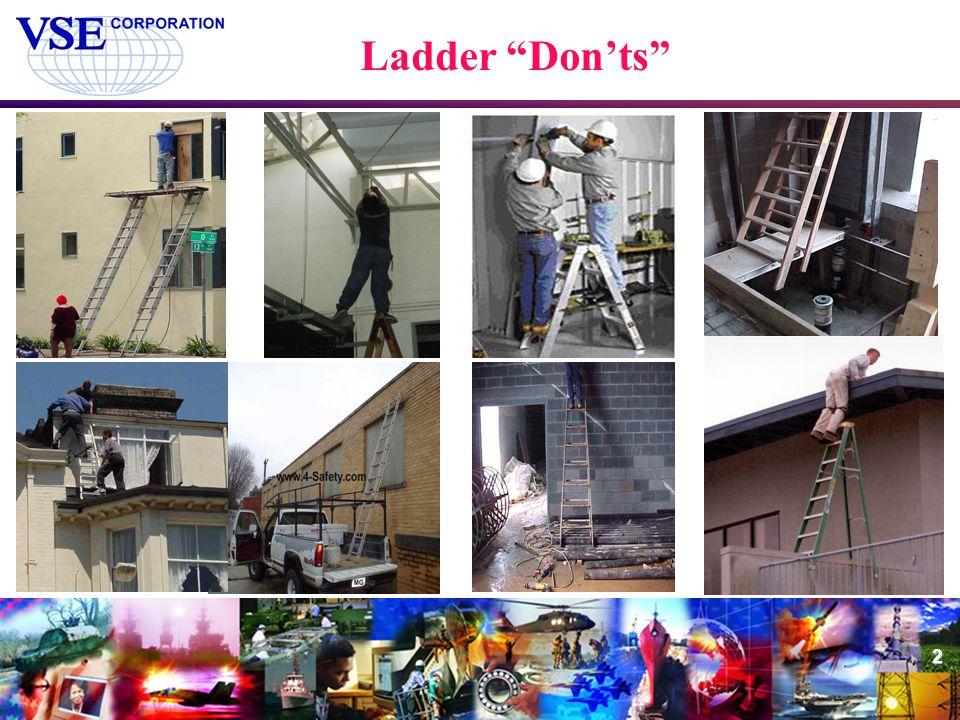 "2 Ladder ""Don'ts"""