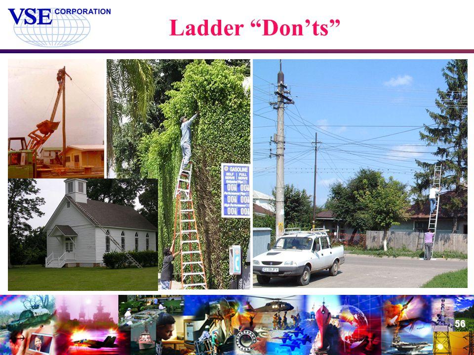 "56 Ladder ""Don'ts"""
