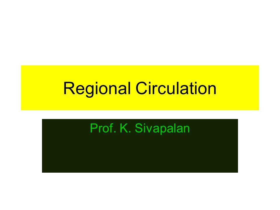 2013 Regional Circulation 2 Regional blood flow.Every organ has specific functions to perform.
