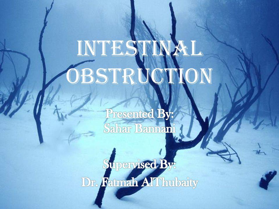 Intestinal Obstruction