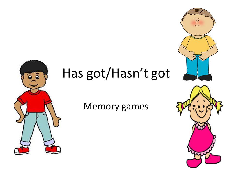 Has got/Hasn't got Memory games