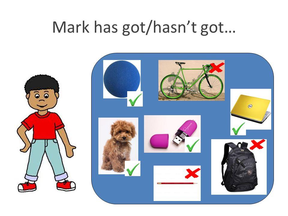Mark has got/hasn't got…