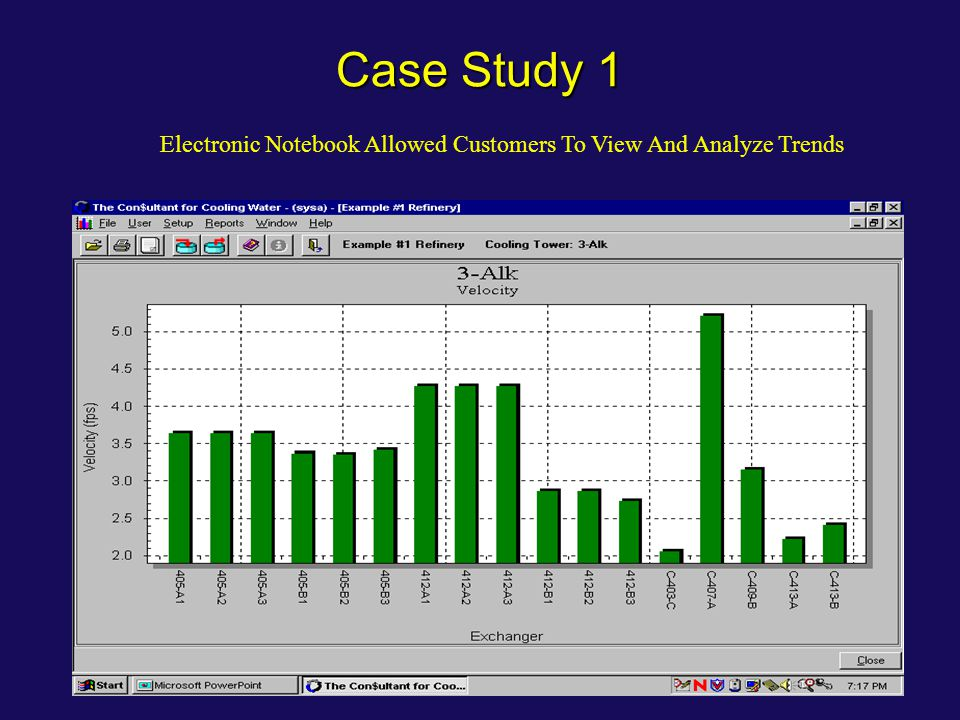 Case Study 1 Electronic Notebook Allowed Customers To View And Analyze Trends