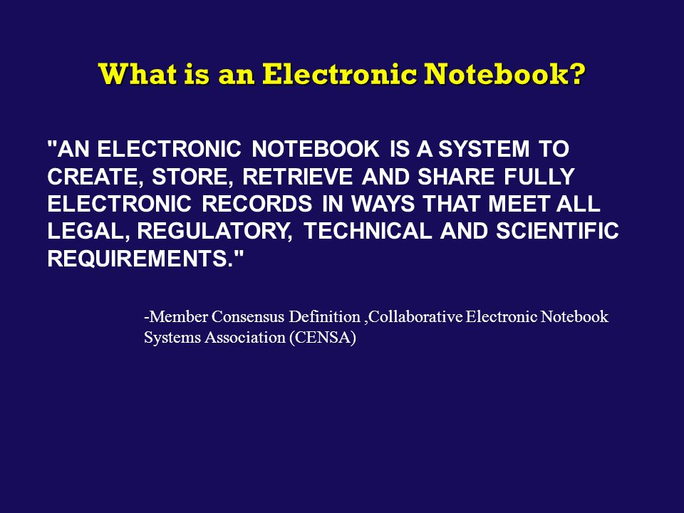 What is an Electronic Notebook?