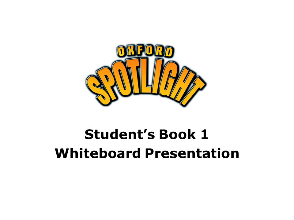 Student's Book 1 Whiteboard Presentation
