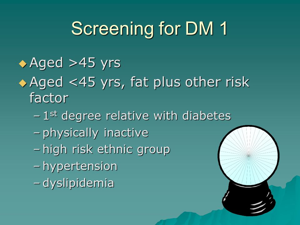 How DM Presents 2  Screening –asymptomatic –high risk groups