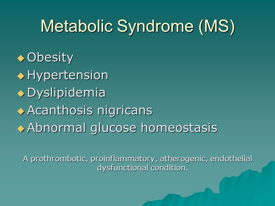 Syndromes Associated with Type 2 DM  Metabolic syndrome (MS)  Polycystic ovarian syndrome (PCOS)  Obstructive sleep apnea syndrome (OSAS)