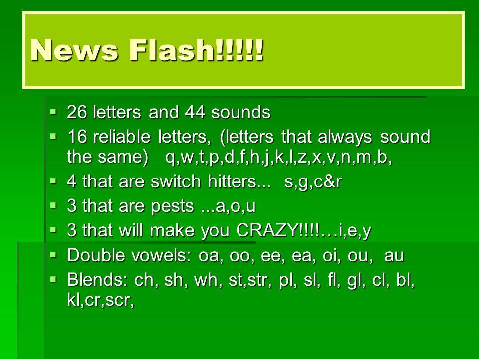 News Flash!!!!.