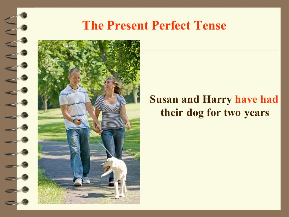 The Present Perfect Tense They have been friends for twenty years (They met each other twenty years ago and they are still friends ) now twenty years