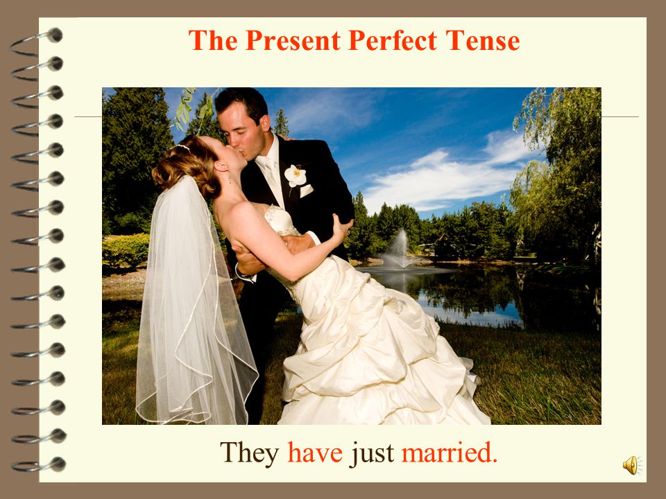 She has just painted a picture. her picture The Present Perfect Tense