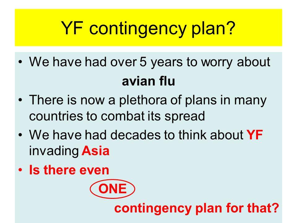 YF contingency plan.