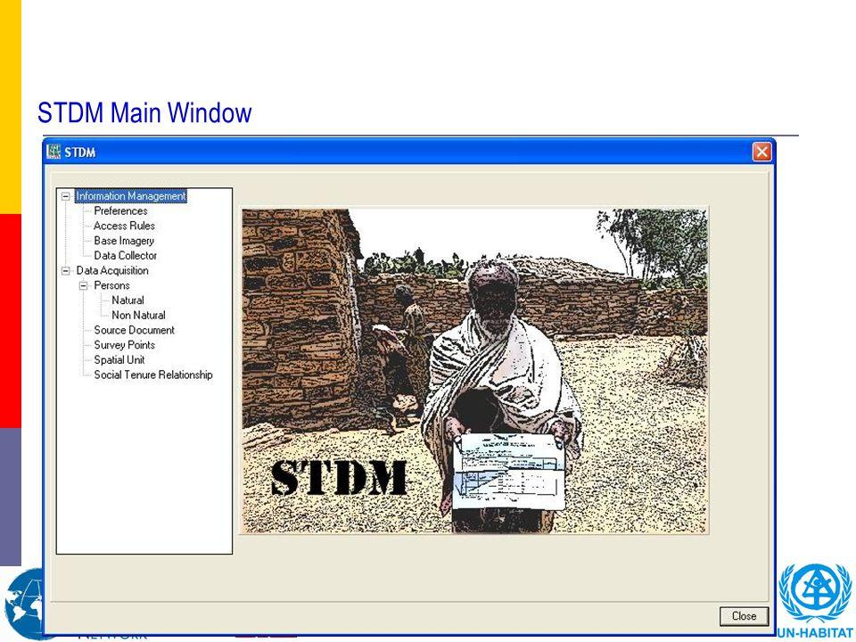 STDM Main Window