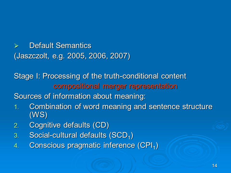 14  Default Semantics (Jaszczolt, e.g.