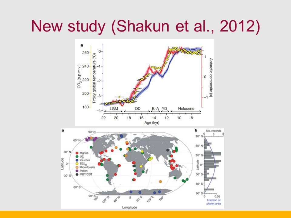 New study (Shakun et al., 2012)
