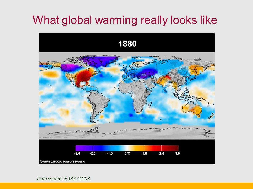 What global warming really looks like Data source: NASA / GISS