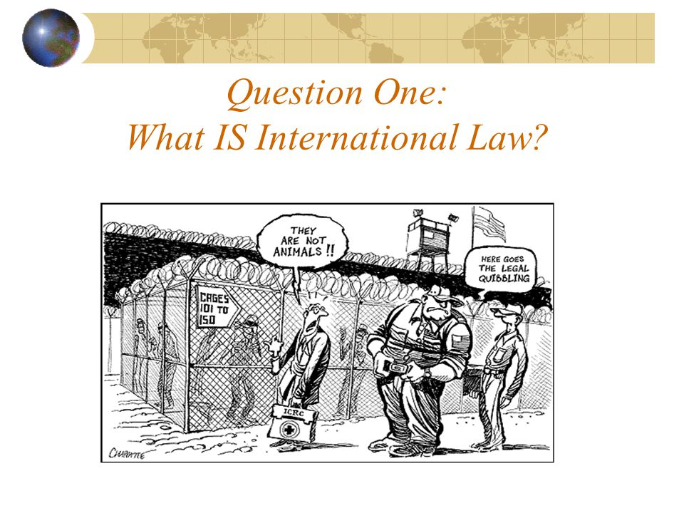 Question One: What IS International Law
