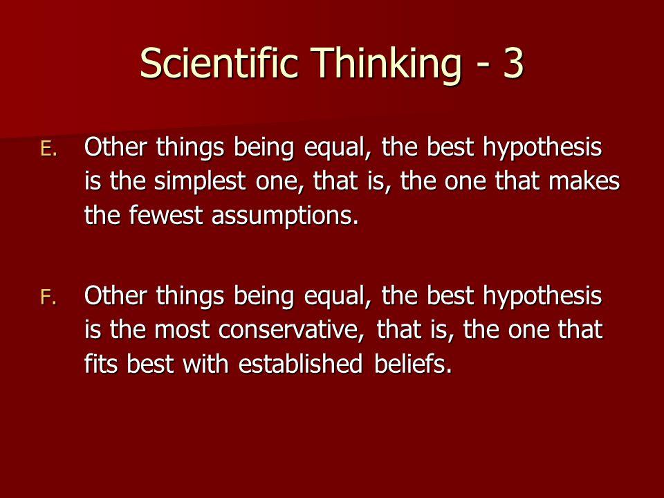 Scientific Thinking - 3 E.