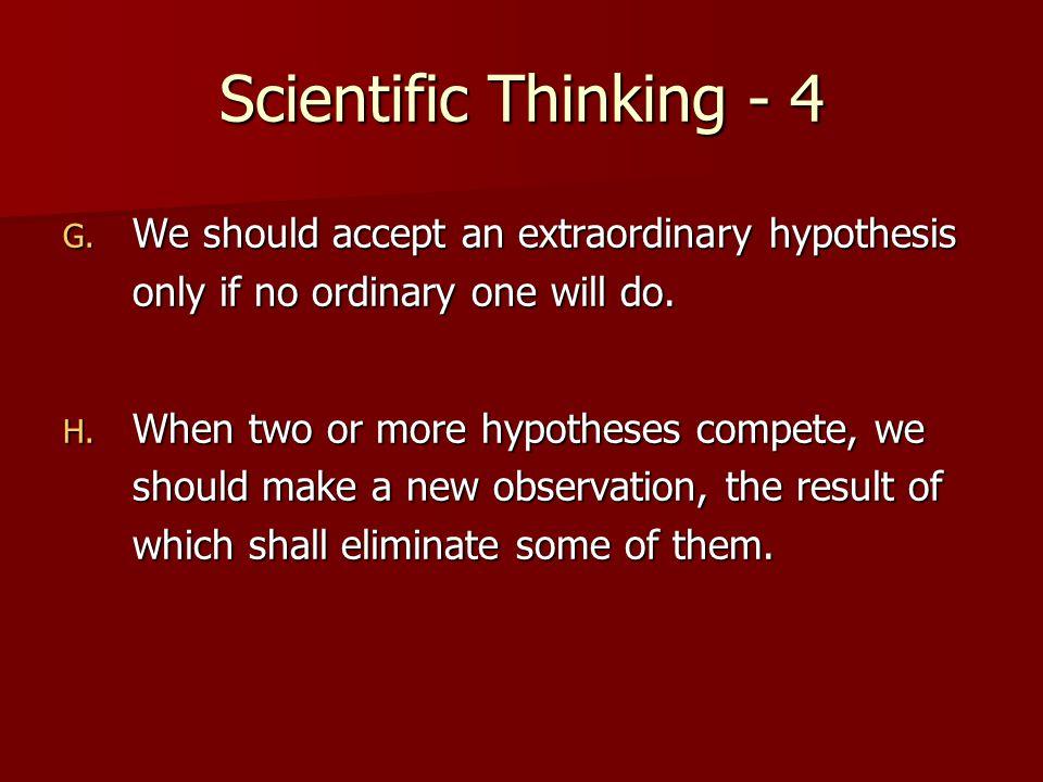 Scientific Thinking - 4 G.