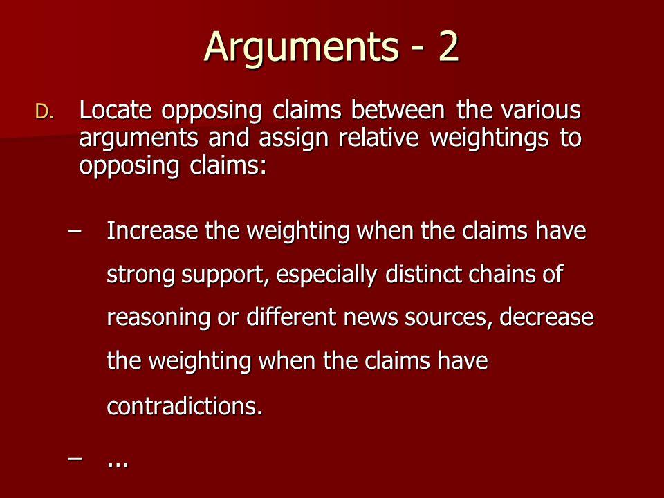 Arguments - 2 D.