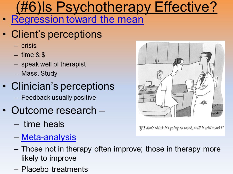 (#6)Is Psychotherapy Effective.