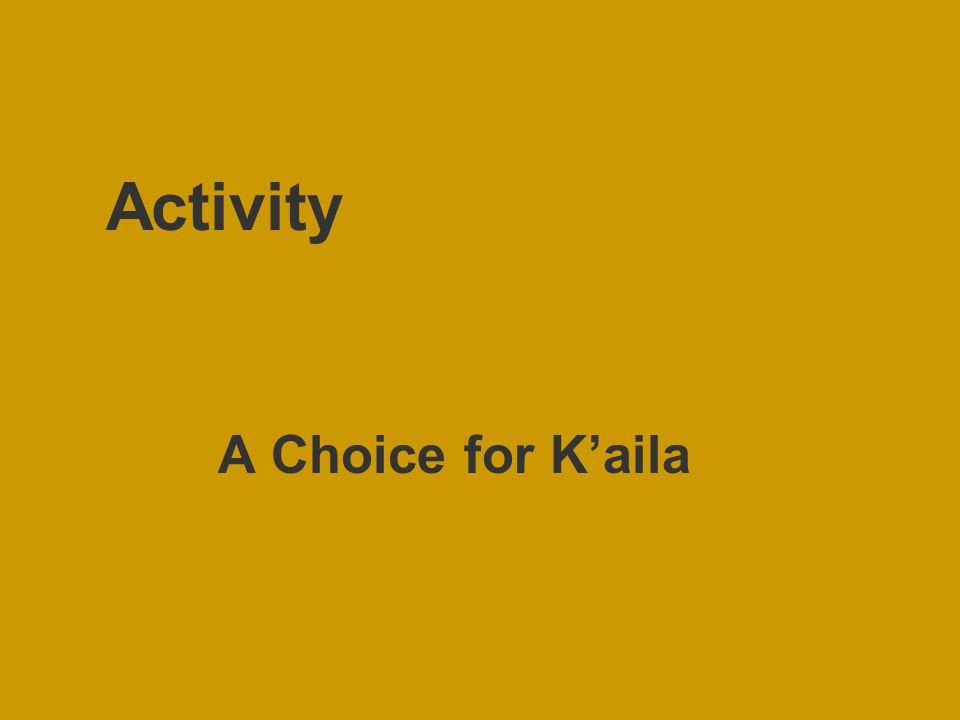 Activity A Choice for K'aila