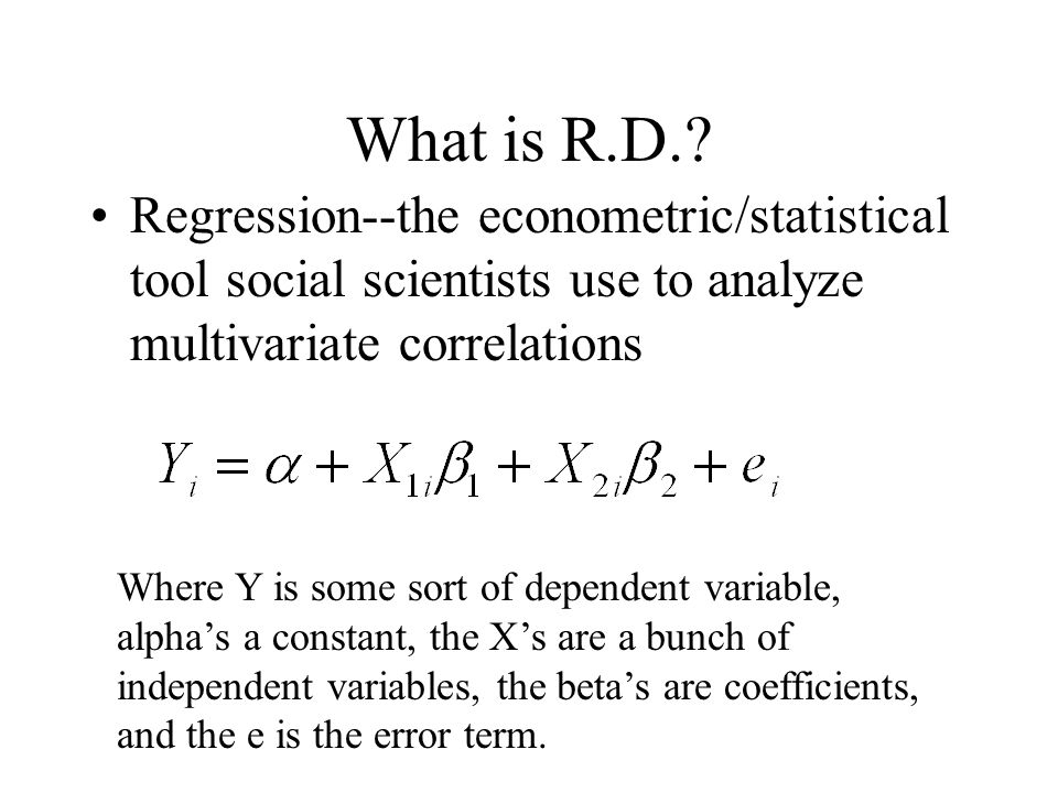 What is R.D..