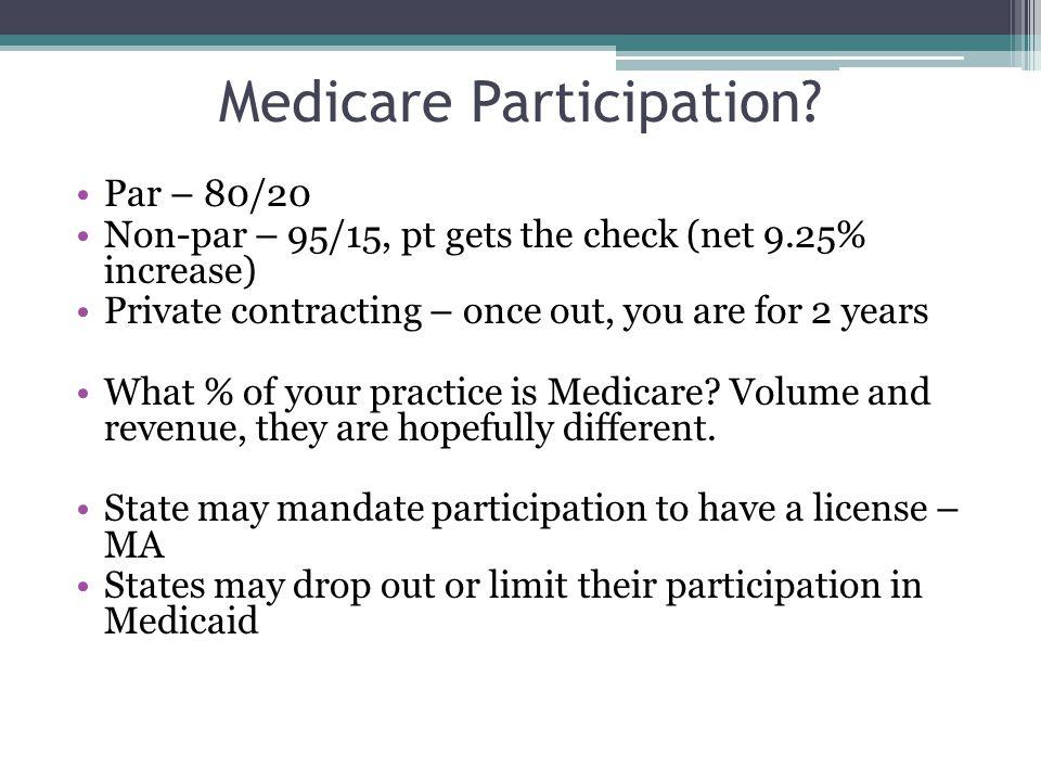 Medicare Participation.