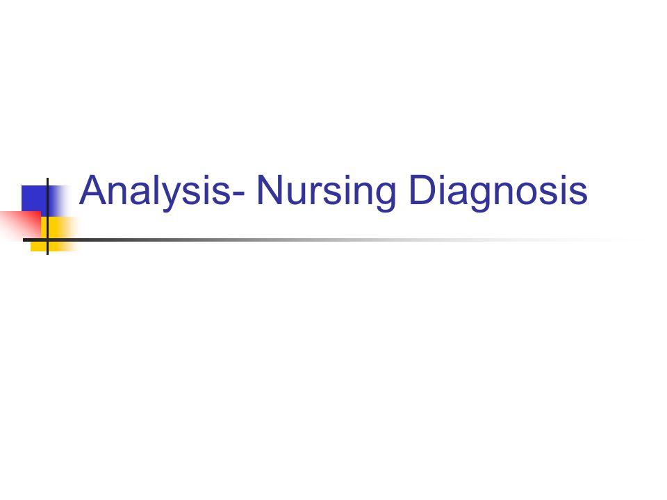Analysis- Nursing Diagnosis
