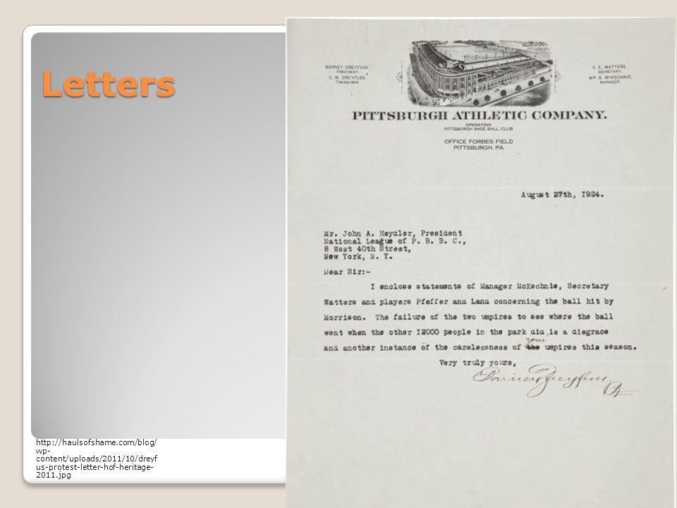Letters http://haulsofshame.com/blog/ wp- content/uploads/2011/10/dreyf us-protest-letter-hof-heritage- 2011.jpg