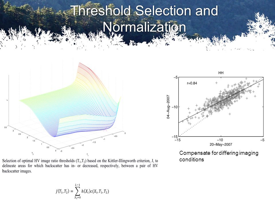 Threshold Selection and Normalization Compensate for differing imaging conditions