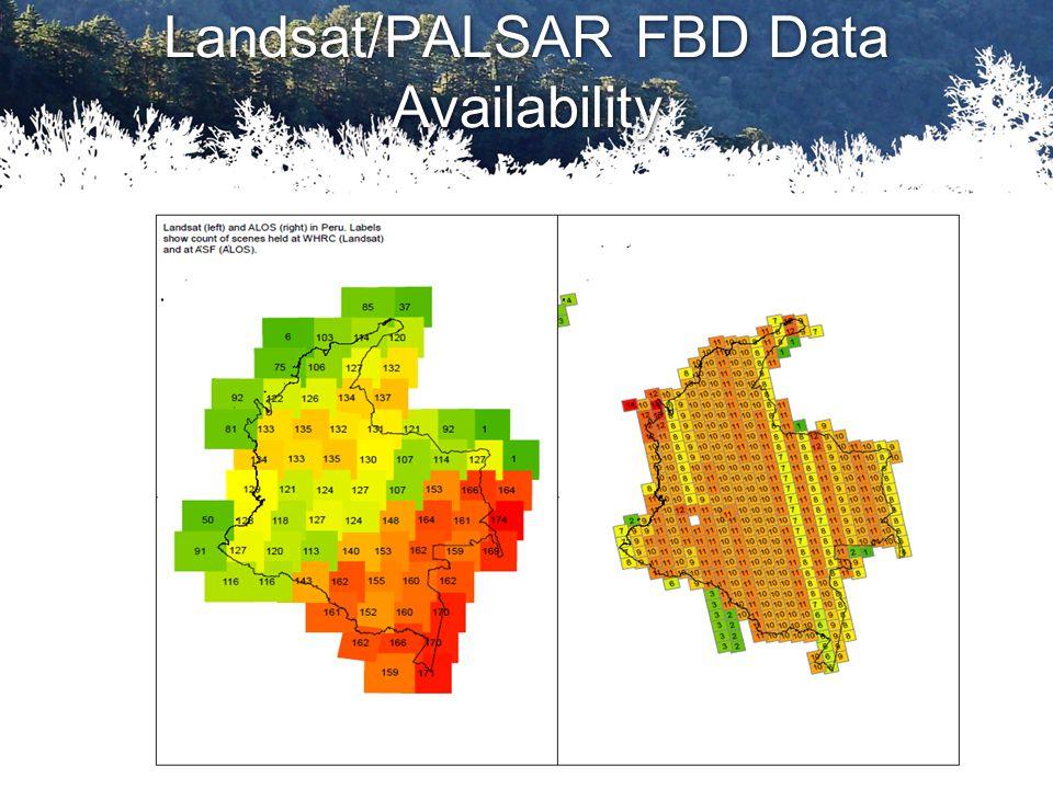 Landsat/PALSAR FBD Data Availability