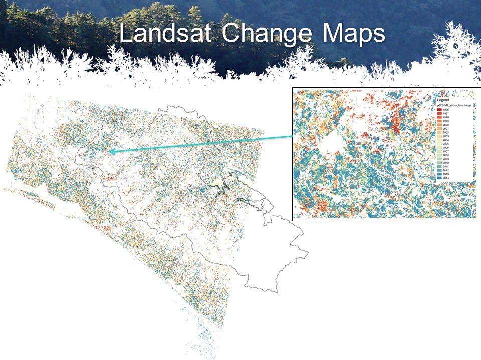 Landsat Change Maps