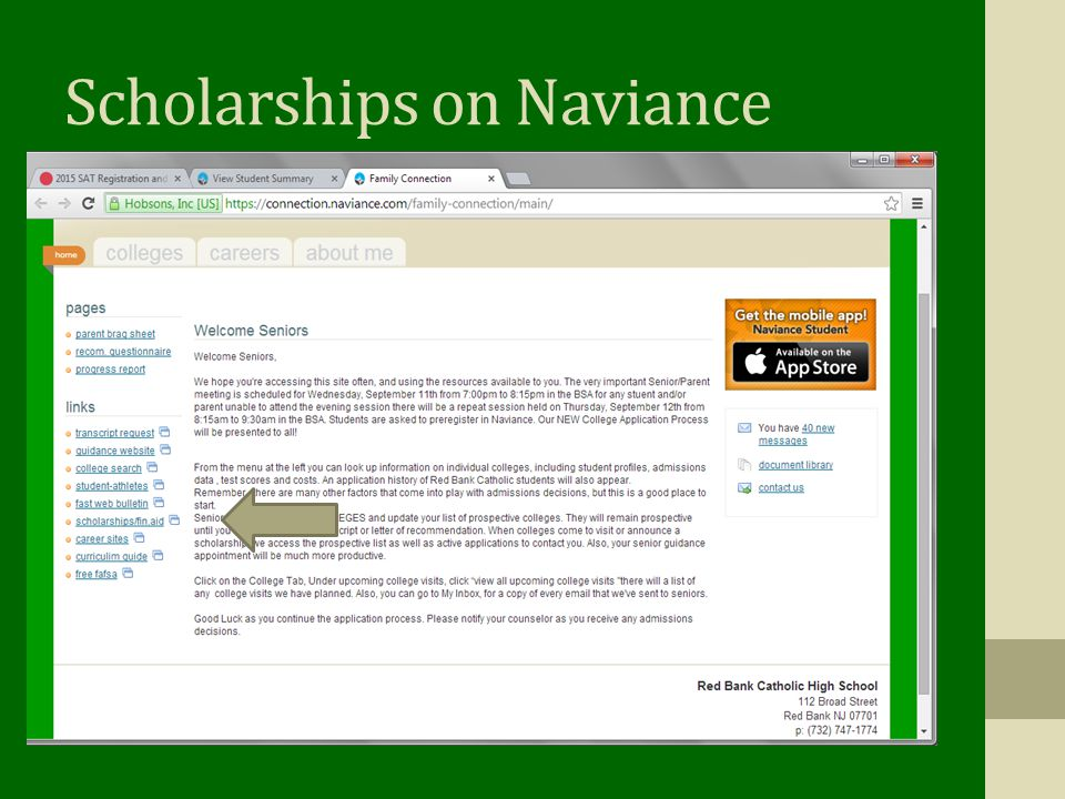 Scholarships on Naviance