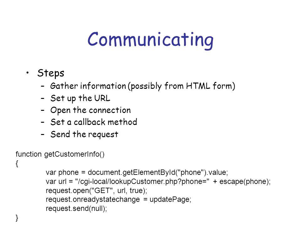 Prototype Sample new Ajax.Request( /some_url , { method: get , onSuccess: function(transport) { var response = transport.responseText || no response text ; alert( Success.