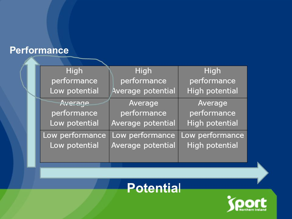 High performance Low potential High performance Average potential High performance High potential Average performance Low potential Average performance Average potential Average performance High potential Low performance Low potential Low performance Average potential Low performance High potential Potential Performance