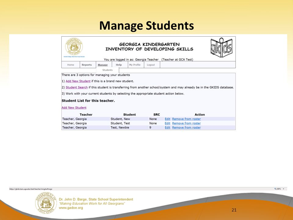 21 Manage Students