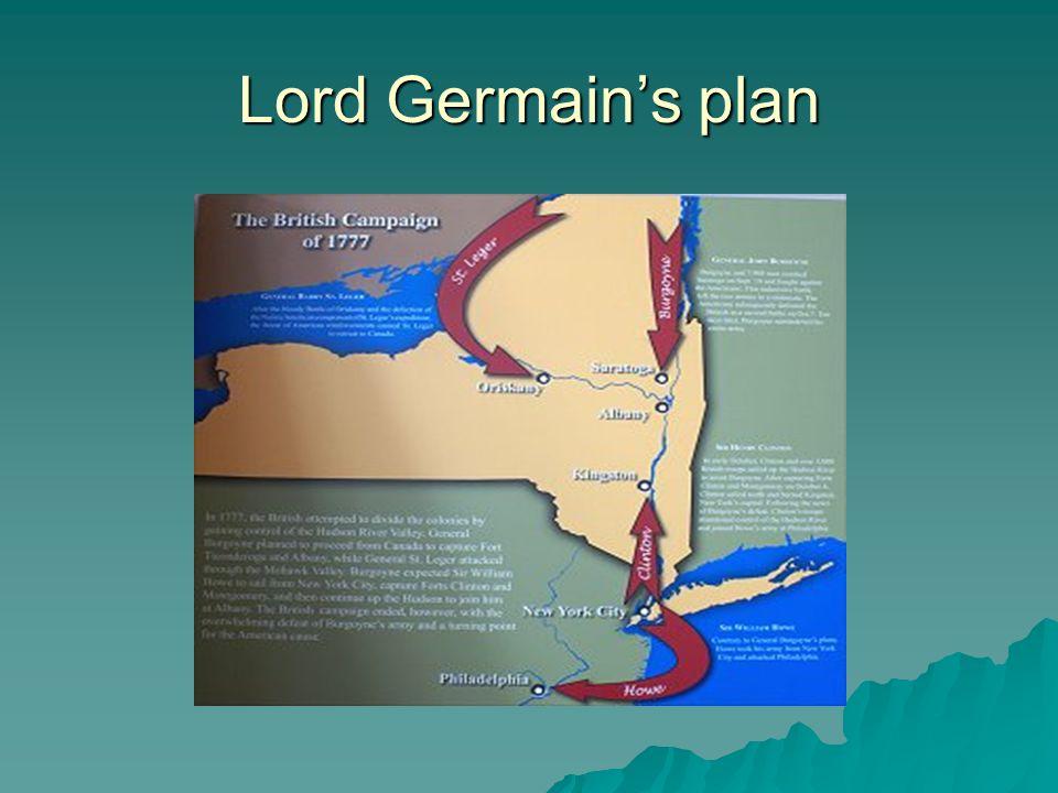 Lord Germain's plan