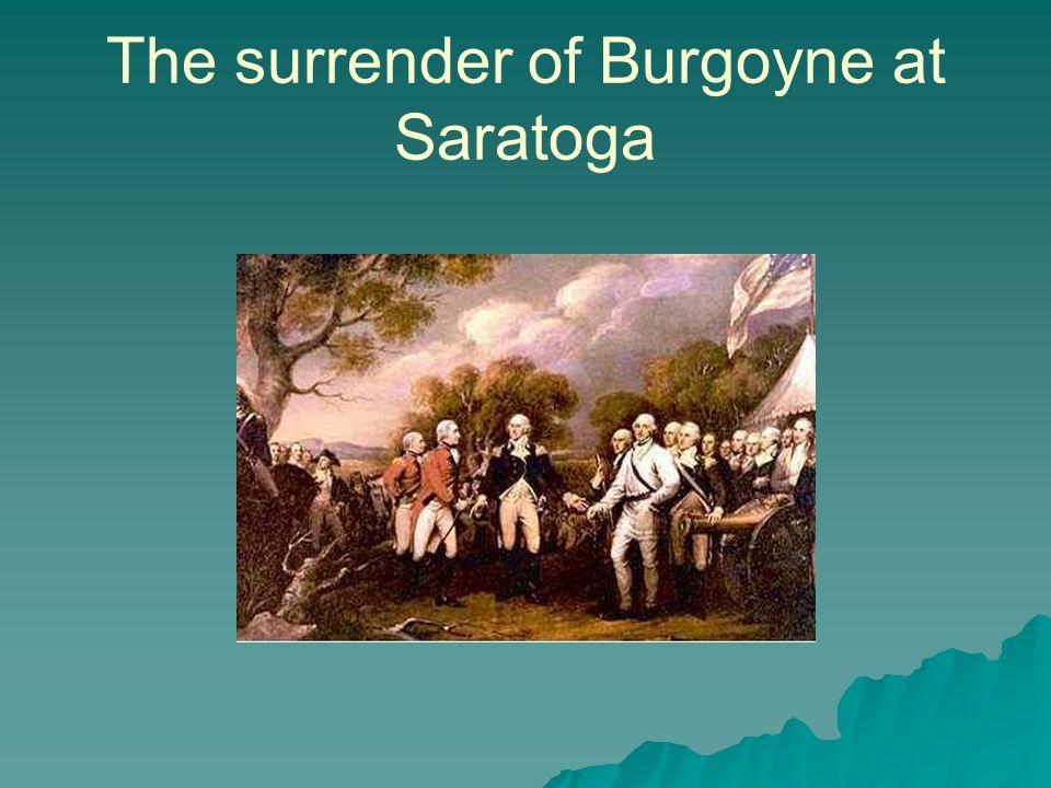 The surrender of Burgoyne at Saratoga
